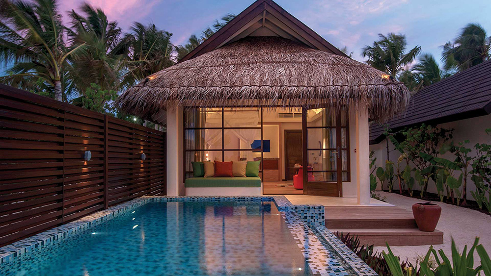 Exterior of Deluxe Beach Villa at Sunset at Oblu Select at Sangeli