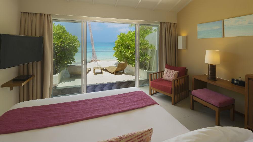 Deluxe Ocean Front Beach Villa at the Centara Ras Fushi Resort and Spa Maldives