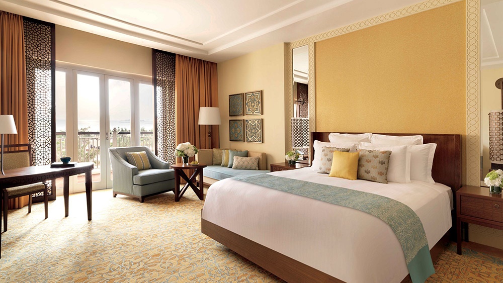 Bedroom of the Deluxe Room at Ritz-Carlton Dubai