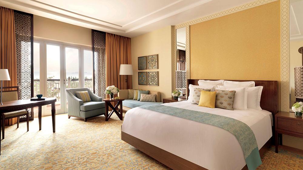 Bedroom of the Deluxe Room at Ritz-Carlton Dubai