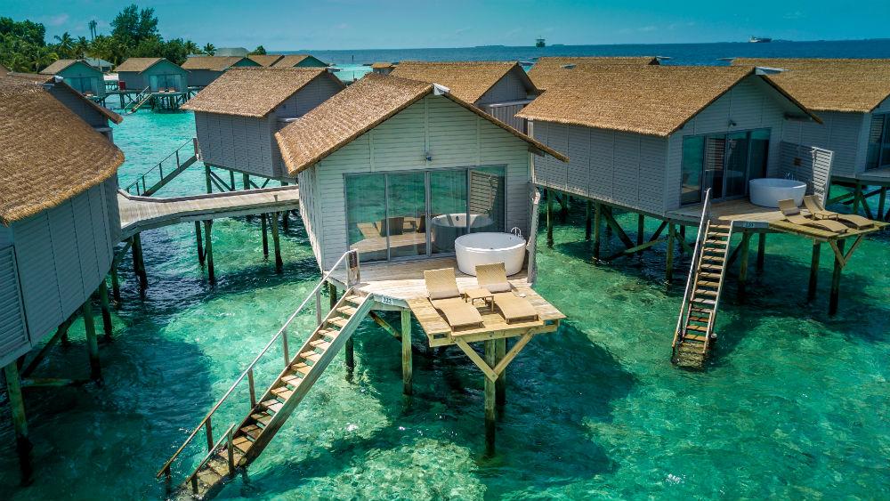 Deluxe Spa Over Water Villa at the Centara Ras Fushi Resort and Spa Maldives