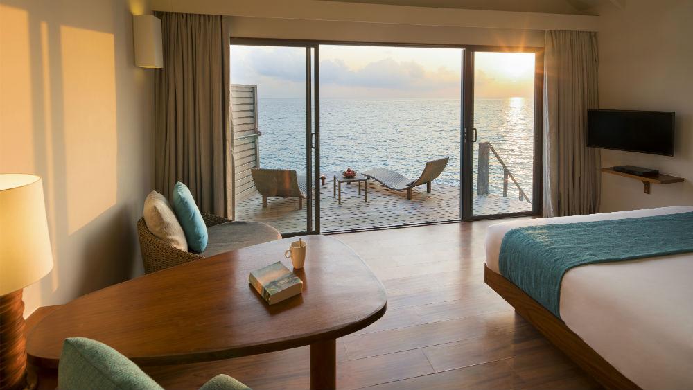 Deluxe Sunset Water Villa at the Centara Ras Fushi Resort and Spa Maldives