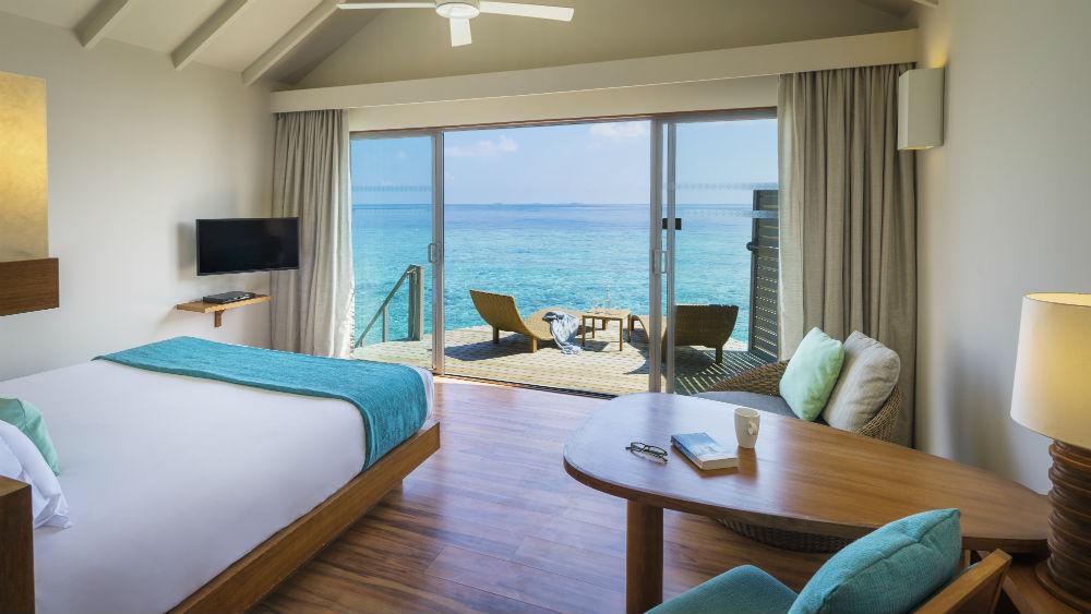 Deluxe Water Villa at the Centara Ras Fushi Resort and Spa Maldives