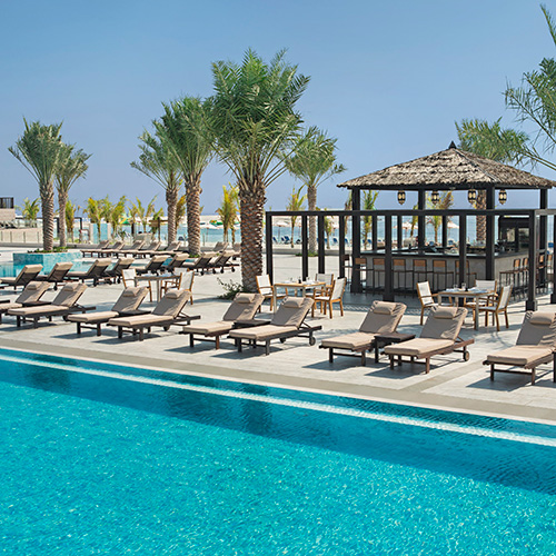 Boardwalk Pool Bar at Doubletree by Hilton Resort Marjan Island