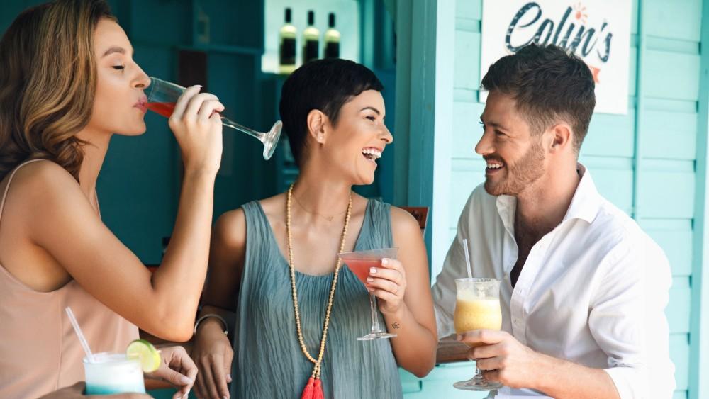 Friends enjoying a drink at Sugar Bay Barbados