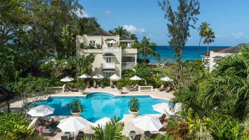 Outdoor pool at Coral Reef Club in Barbados
