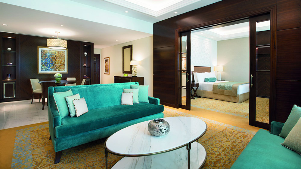 Lounge Room of the Family Suite at Ritz-Carlton Dubai