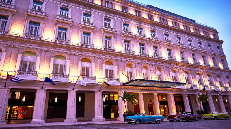 Exterior of the Gran Hotel Manzana Kempinski in Cuba