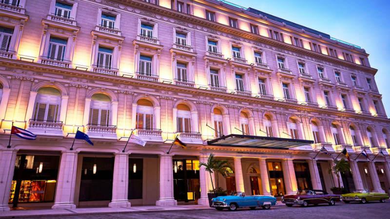 Exterior of the Gran Hotel Manzana Kempinski in Cuba