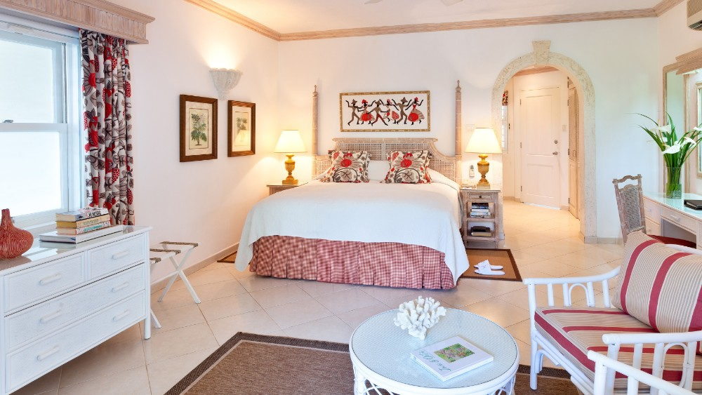 Bedroom of the Gaarden Room at Coral Reef Club Barbados