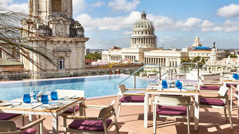 Gran Hotel Manzana Kempinski roof lounge