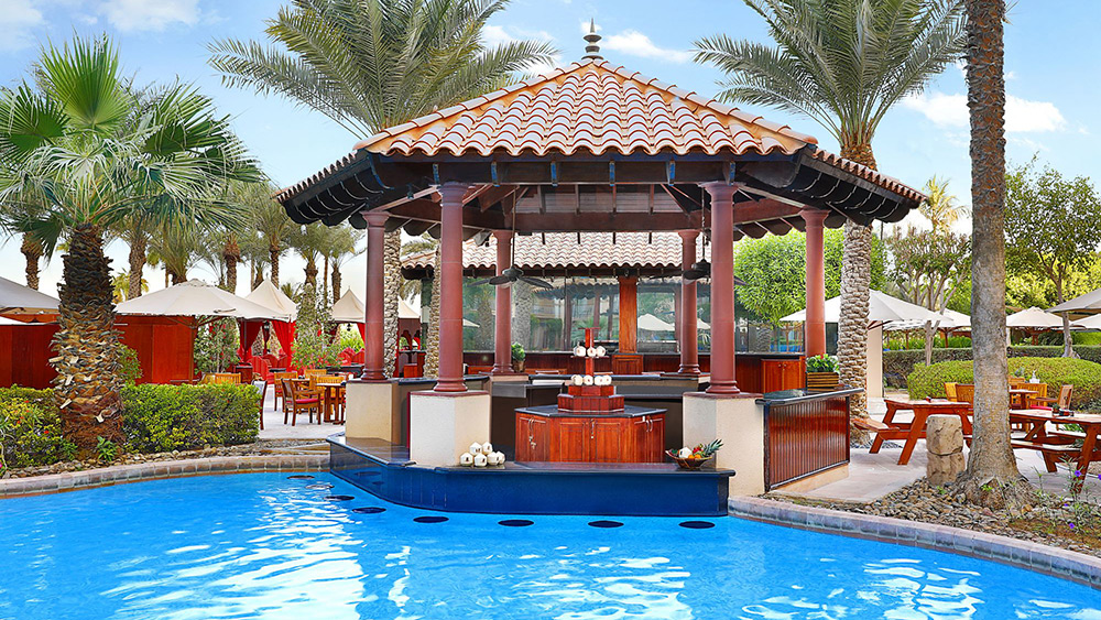 The Gulf Pavilion Pool Bar at The Ritz-Carlton in Dubai