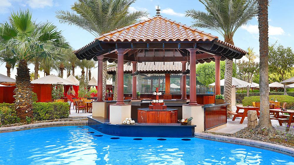 The Gulf Pavilion Pool Bar at The Ritz-Carlton in Dubai