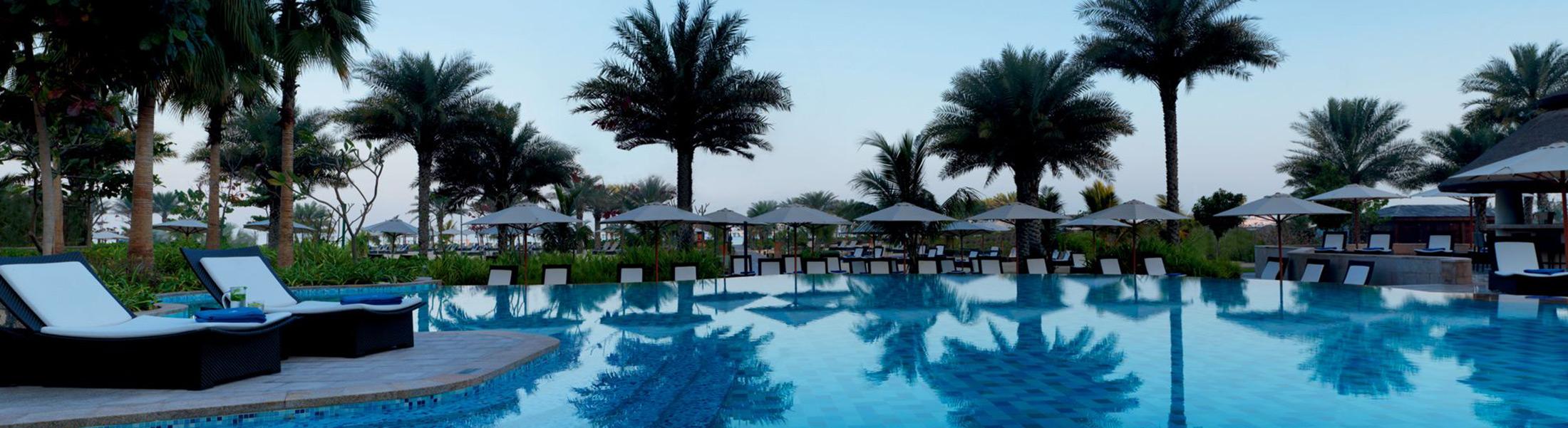 Infinity Pool at Ritz-Carlton Dubai
