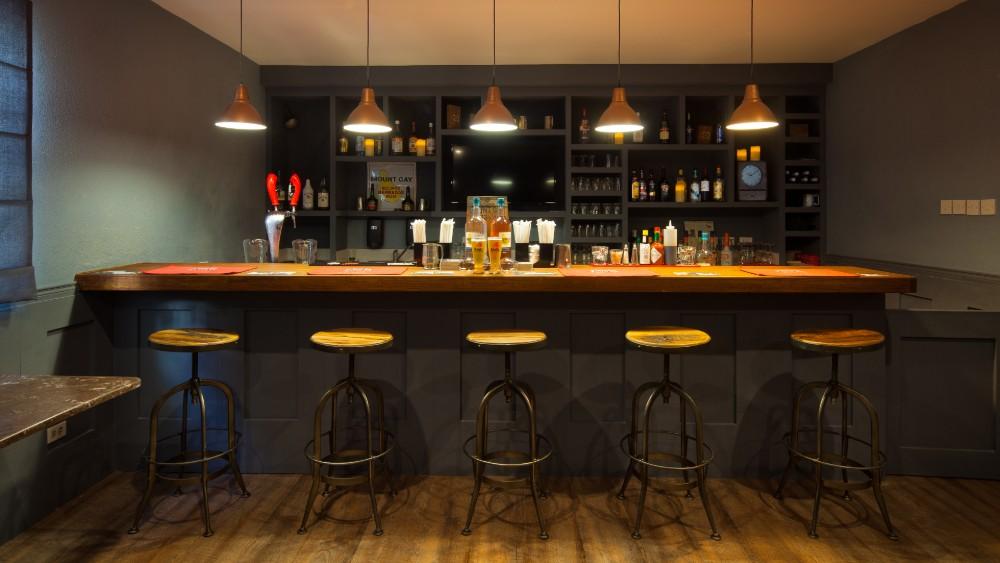 Empty bar at Sugar Bay Barbados