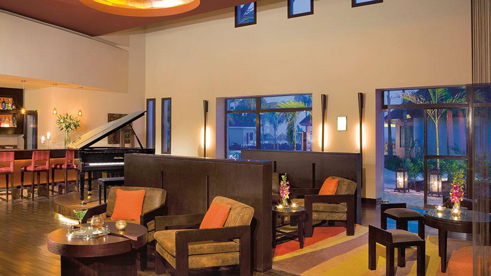 Lobby bar at the Secrets Wild Orchid Montego Bay resort