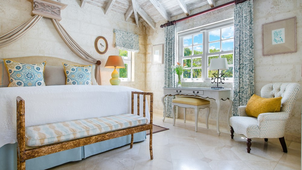 Bedrrom of the Luxury Plantation Suite at Coral Reef Club in Barbados
