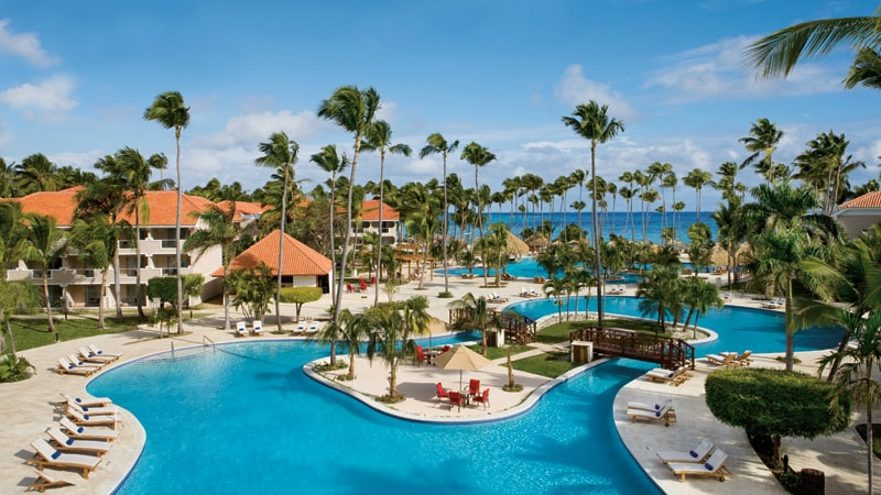 Main Pool at the Dreams Palm Beach Punta Cana in Dominican Republic