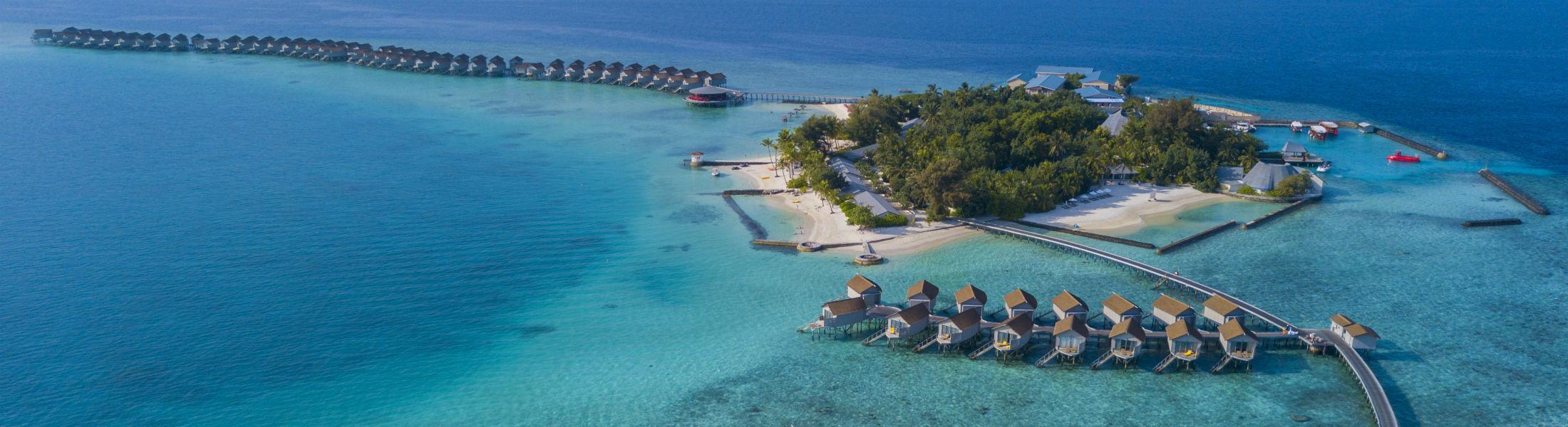 Maldives hotel island