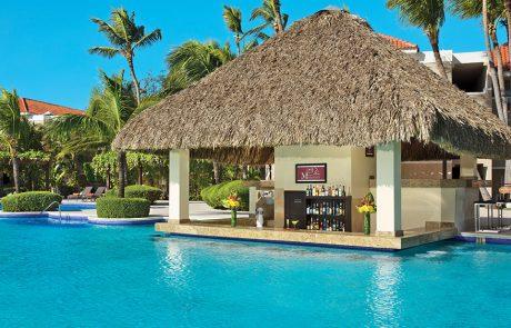 Manatees swim up bar at the Dreams Palm Beach Punta Cana