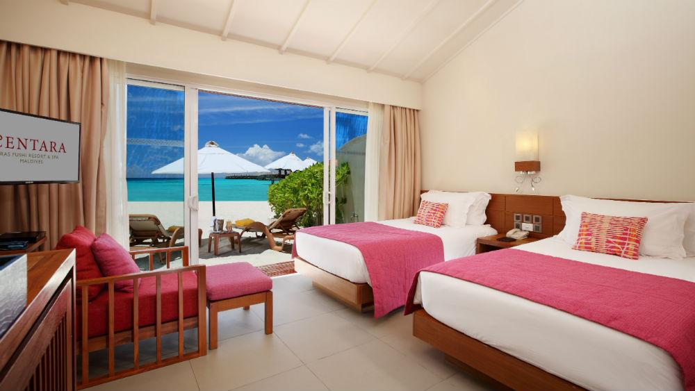 Ocean Front Beach Villa at the Centara Ras Fushi Resort and Spa Maldives