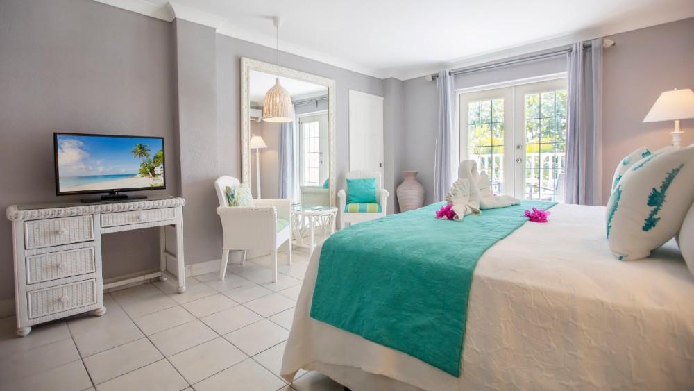 Bedroom of the Ocean Front Room at Sugar Bay Barbados