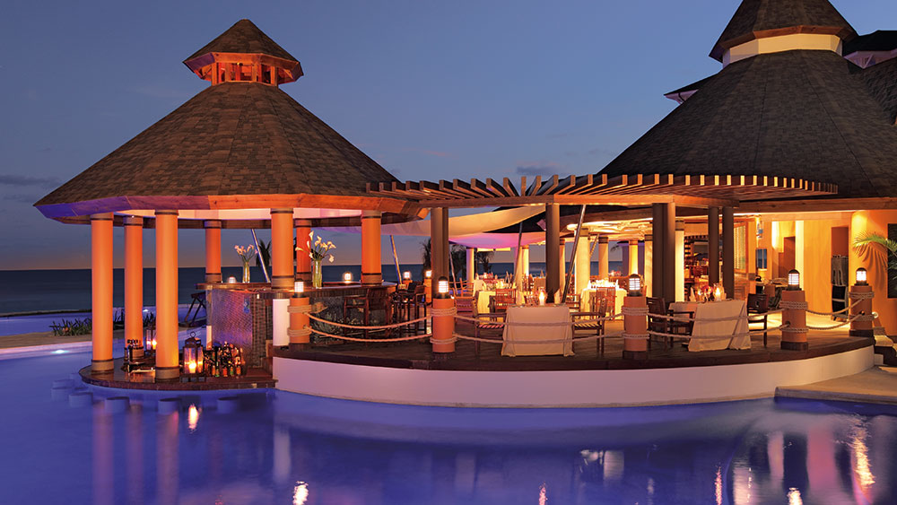 Barracuda swimming pool at the Secrets Wild Orchid Montego Bay resort