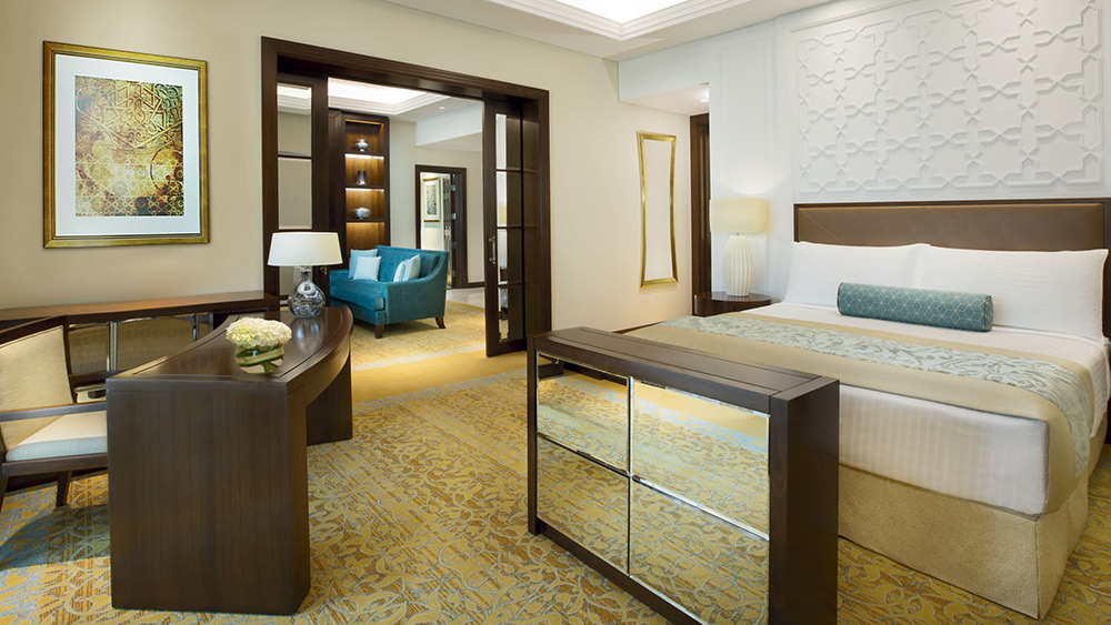 Bedroom of the One Bedroom Gulf Suite at Ritz-Carlton Dubai
