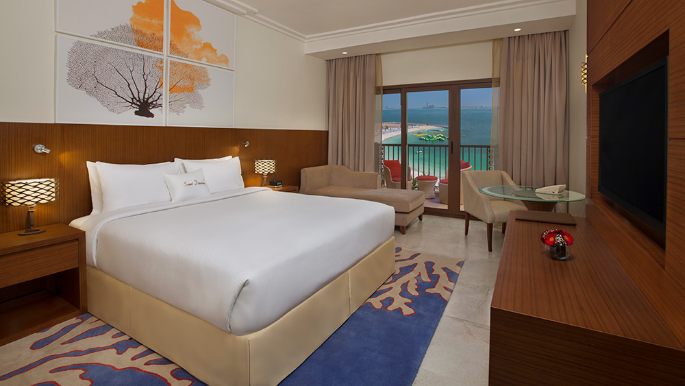 Bedroom in the One Bedroom Suite at Doubletree by Hilton Resort Marjan Island