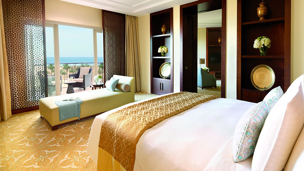 Bedroom of the One Bedroom Suite at Ritz-Carlton Dubai