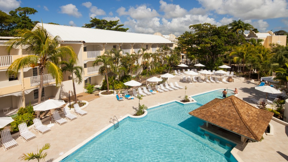 Aerial view of the pool at Sugar Bay Barbados