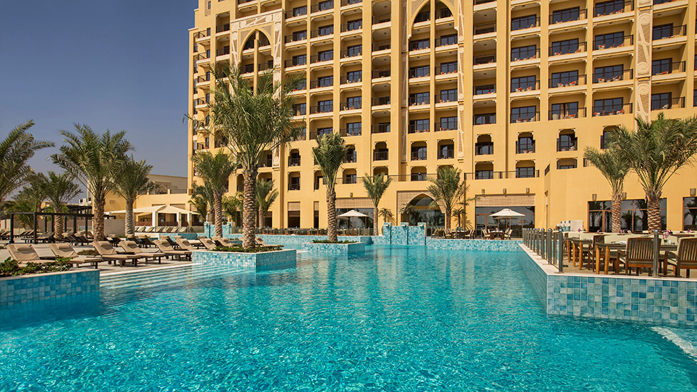 Outddor pool at Doubletree by Hilton Resort Marjan Island