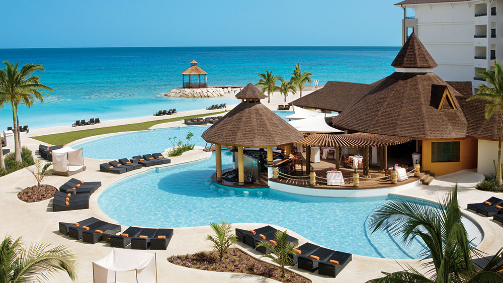 Main Pool at the Secrets Wild Orchid Montego Bay resort