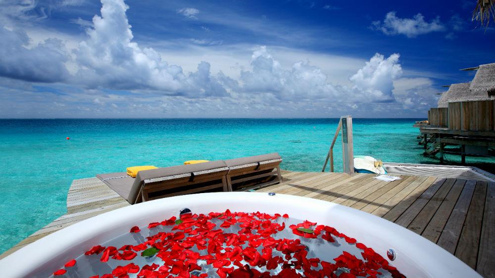 Premium Deluxe Spa Water Villa at the Centara Ras Fushi Resort and Spa Maldives