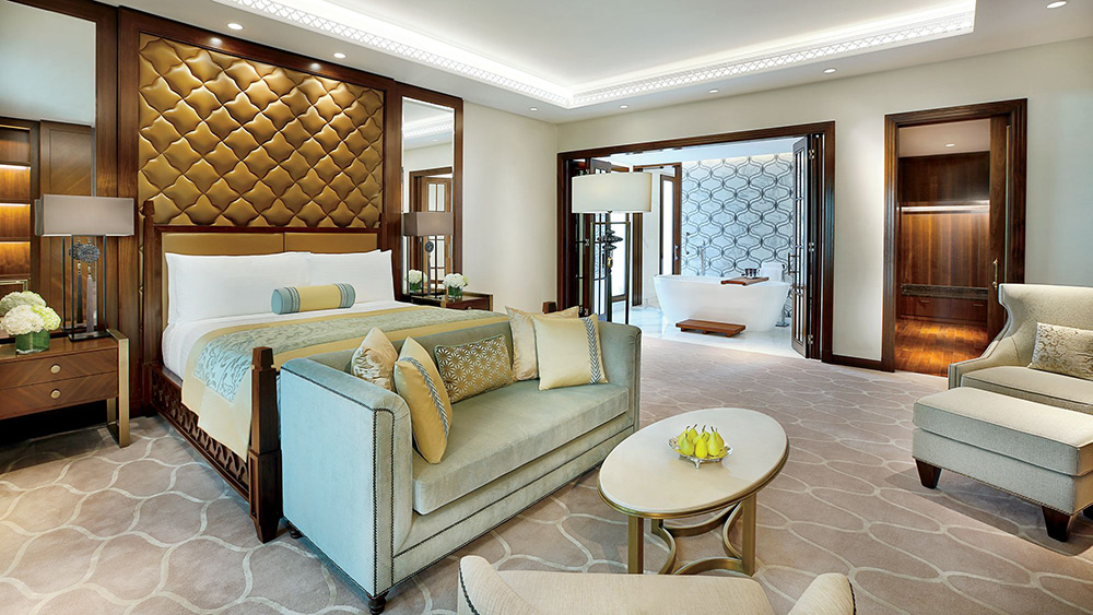 Bedroom in the Presidential Suite at Ritz-Carlton Dubai