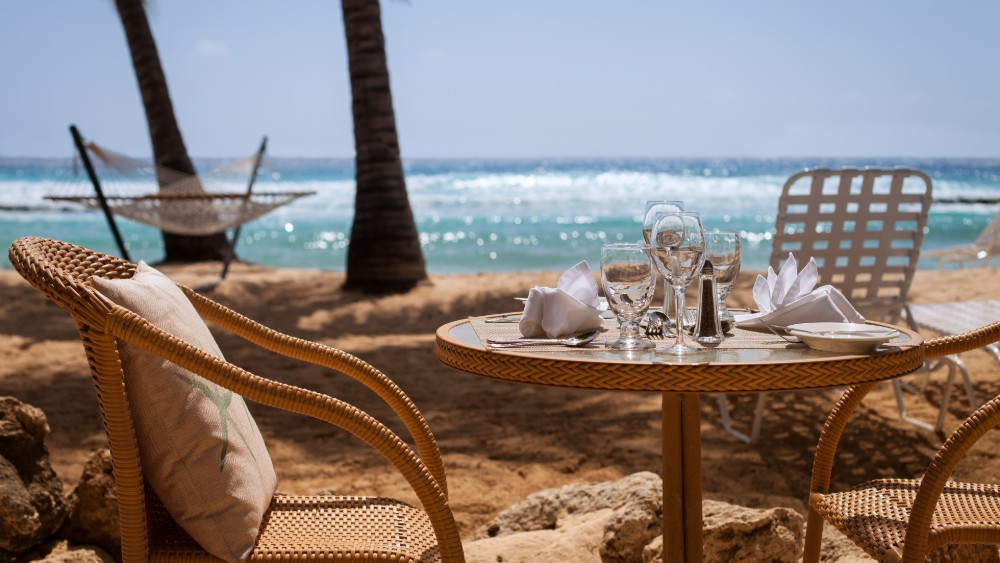 Outdoor dining at Sugar Bay Barbados