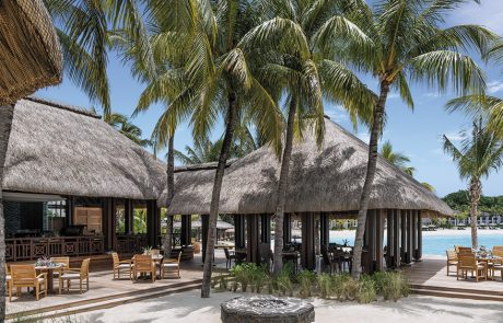 Outdoor dining at Republik Beach Club at Shangri-La's Le Touessrok Mauritius