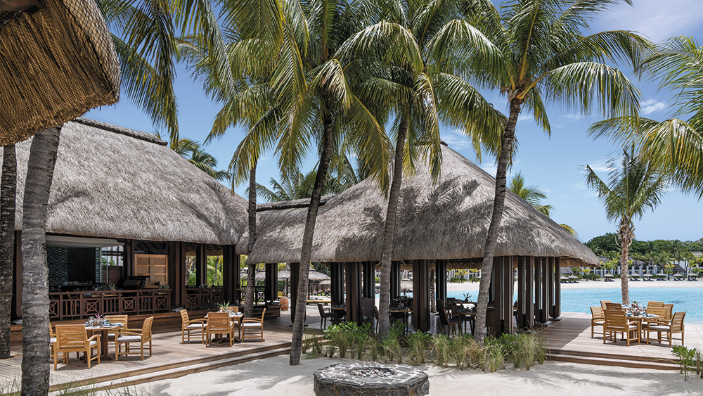 Outdoor dining at Republik Beach Club at Shangri-La's Le Touessrok Mauritius