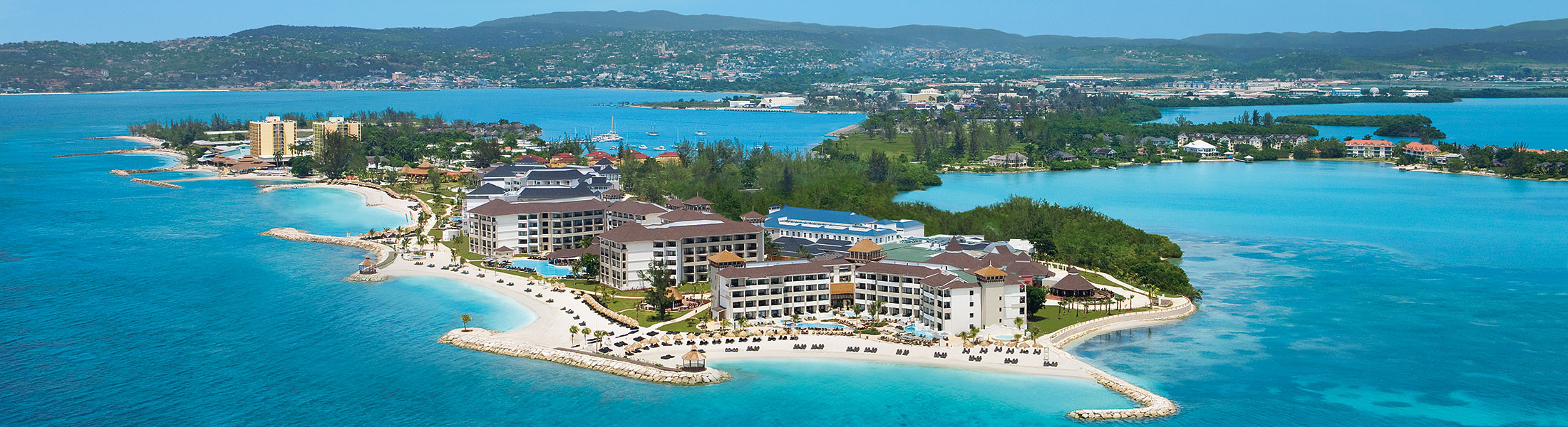 Resort Aerial photo of the Secrets Wild Orchid Montego Bay