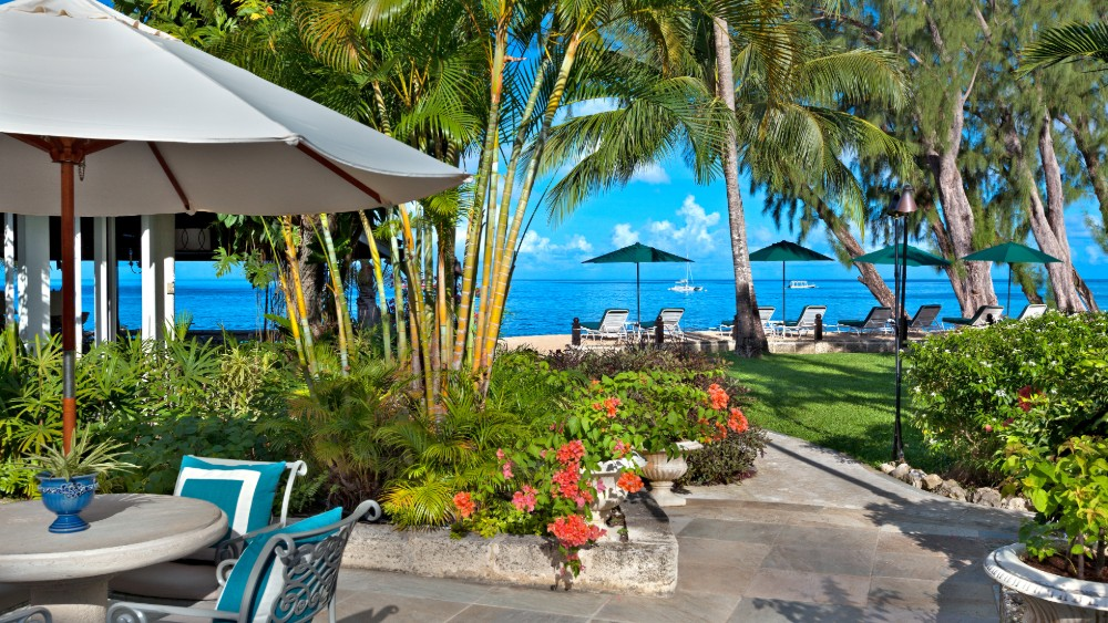 Outdoor dining at Coral Reef Club in Barbados