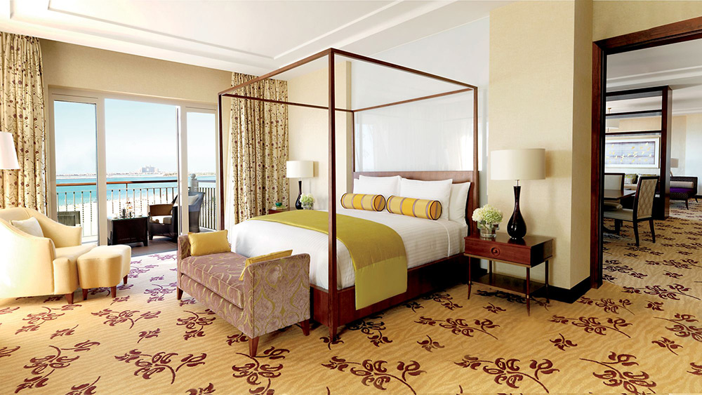 Four post bed in the Royal Suite at Ritz-Carlton Dubai