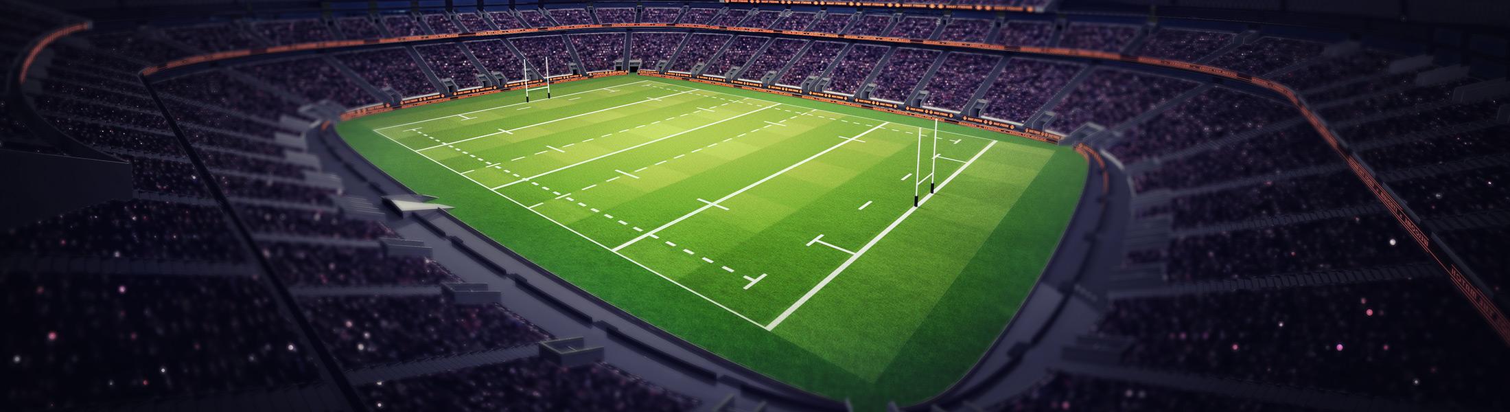 Rugby Stadium under lights