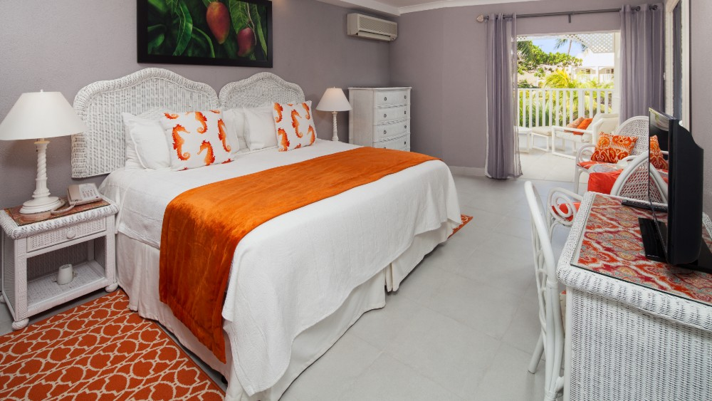 Bedroom of the Signature Deluxe Room at Sugar Bay Barbados