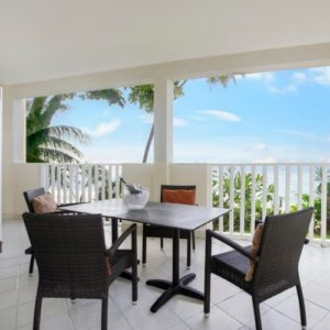 Balcony overlooking the ocean at Sugar Bay