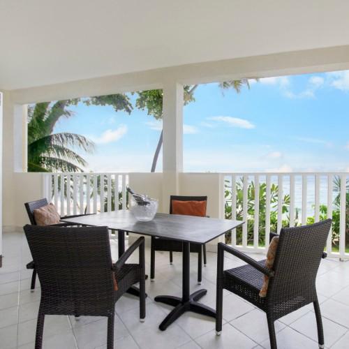Balcony overlooking the ocean at Sugar Bay