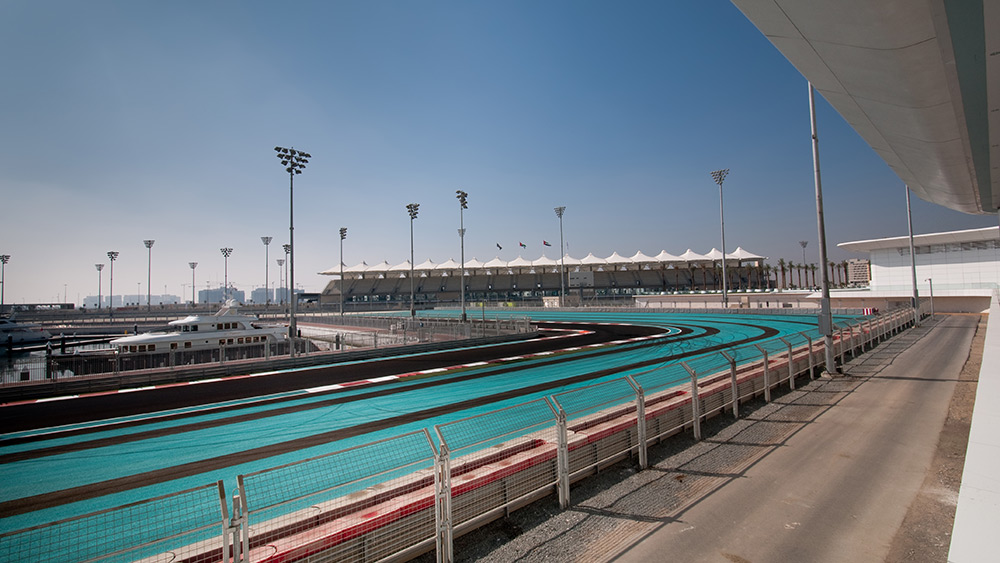 View of the track at the Abu Dhabi Formula Grand Prix