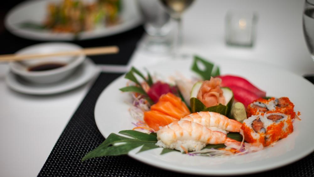 Sushi dinner at Sugar Bay Barbados