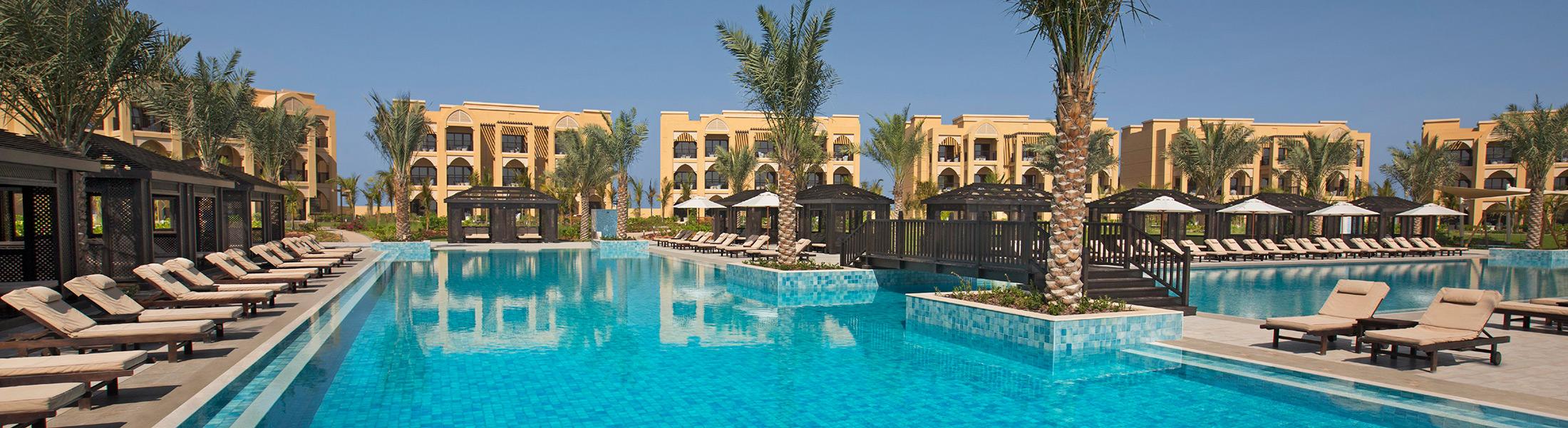 The Villas pool at DoubleTree by Hilton Marjan Island