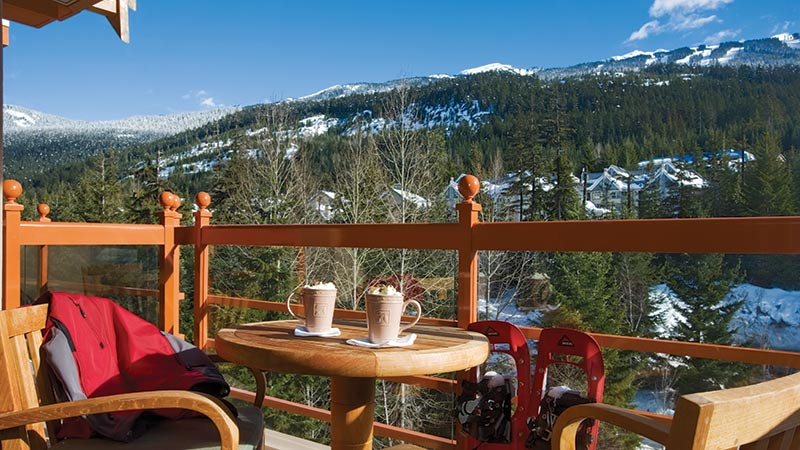 coffee by the mountains Four Season Whistler Canada