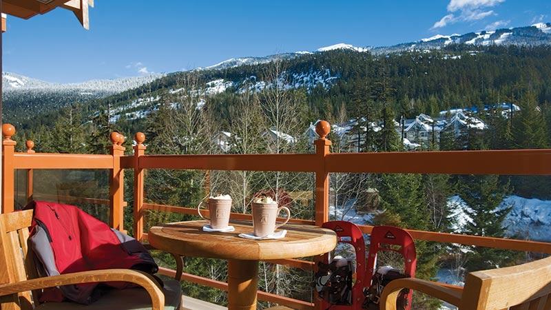 coffee by the mountains Four Season Whistler Canada
